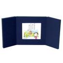 ミニ屏風と豆色紙のセット・紺(五重塔)